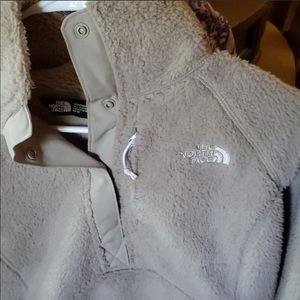 The North Face women's snap fluffy pullover